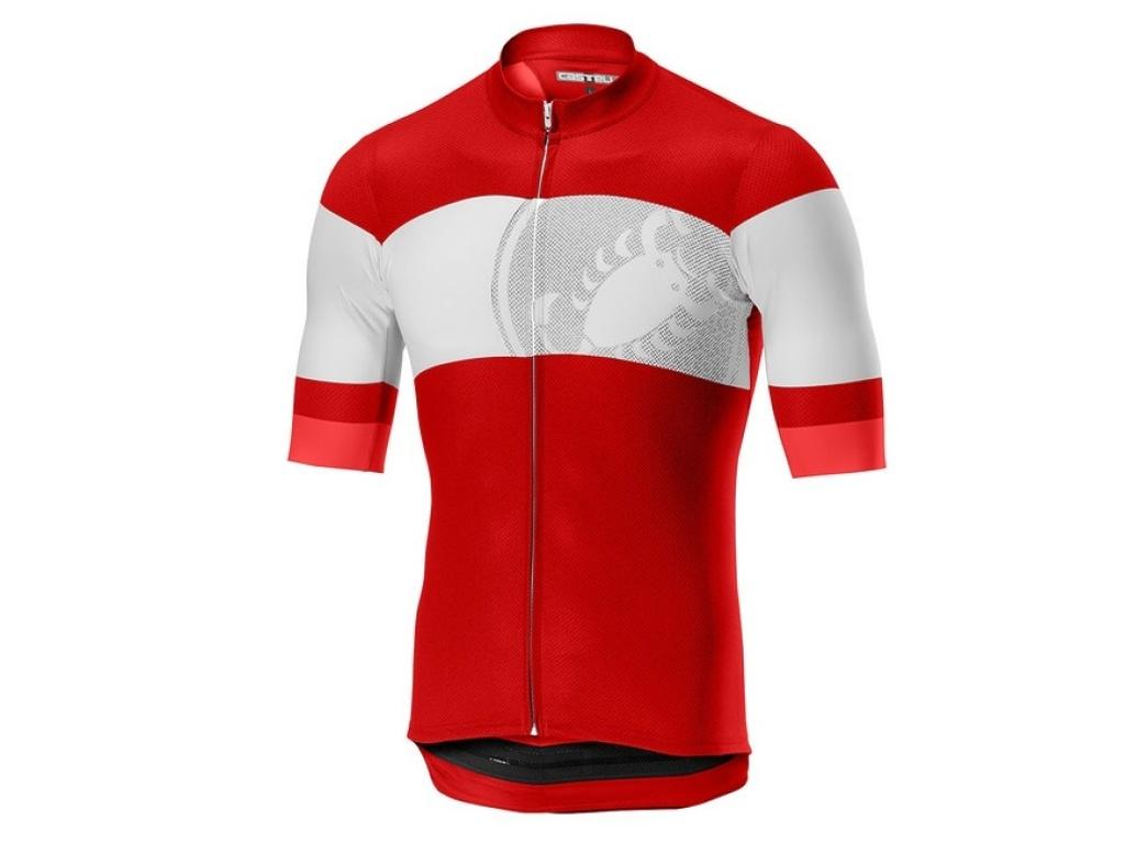 Camisa Castelli Ruota, Vermelha
