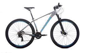Bicicleta Audax Havok SX, Tourney, 21 velocidades, Cinza e Azul