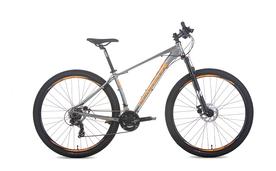 Bicicleta Audax Havok SX, Tourney, 21 velocidades, Cinza e Laranja